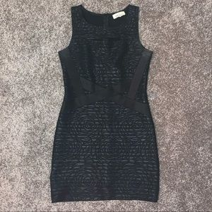 Black bodycon mini dress size medium